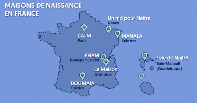 CARTE MAISONS DE NAISSANCE