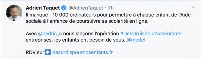 Tweet Adrien Taquet