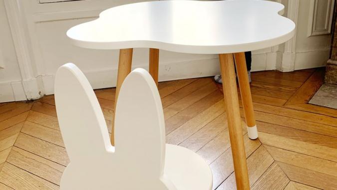 Table et chaise enfant nuage
