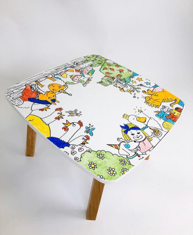 Table coloriage enfant